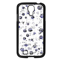 White and deep blue soul Samsung Galaxy S4 I9500/ I9505 Case (Black)