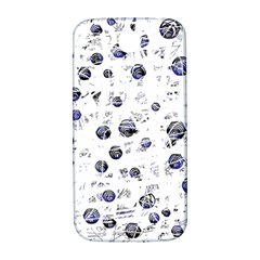 White and deep blue soul Samsung Galaxy S4 I9500/I9505  Hardshell Back Case