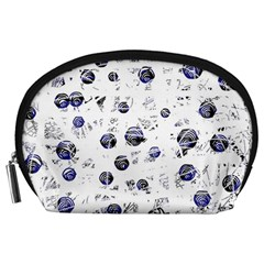 White and deep blue soul Accessory Pouches (Large)
