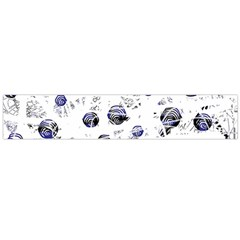 White and deep blue soul Flano Scarf (Large)