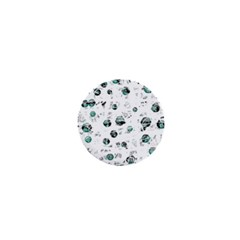 White and green soul 1  Mini Buttons