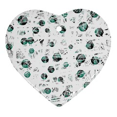 White and green soul Ornament (Heart)