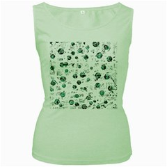 White and green soul Women s Green Tank Top