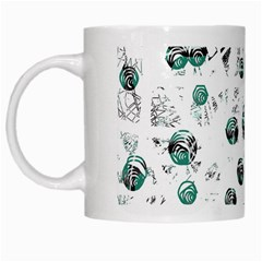 White and green soul White Mugs