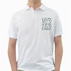White and green soul Golf Shirts