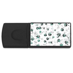 White and green soul USB Flash Drive Rectangular (1 GB)