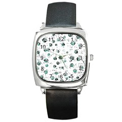 White and green soul Square Metal Watch