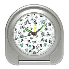 White and green soul Travel Alarm Clocks