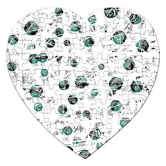 White and green soul Jigsaw Puzzle (Heart)