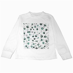 White and green soul Kids Long Sleeve T-Shirts