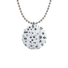 White and green soul Button Necklaces