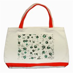 White and green soul Classic Tote Bag (Red)