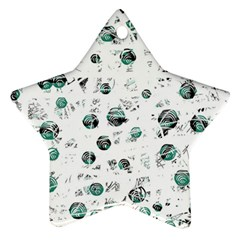 White and green soul Star Ornament (Two Sides)