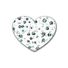 White and green soul Rubber Coaster (Heart)