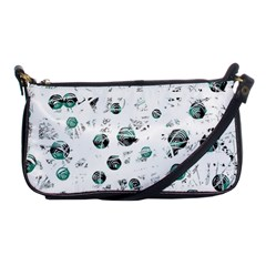 White and green soul Shoulder Clutch Bags