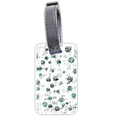 White and green soul Luggage Tags (One Side)