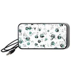 White and green soul Portable Speaker (Black)