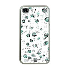 White and green soul Apple iPhone 4 Case (Clear)