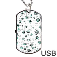 White and green soul Dog Tag USB Flash (Two Sides)
