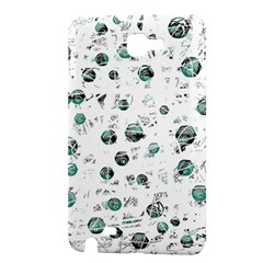 White and green soul Samsung Galaxy Note 1 Hardshell Case