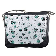 White and green soul Messenger Bags
