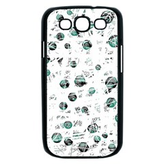 White and green soul Samsung Galaxy S III Case (Black)