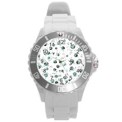 White and green soul Round Plastic Sport Watch (L)