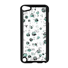 White and green soul Apple iPod Touch 5 Case (Black)