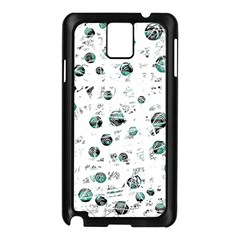 White and green soul Samsung Galaxy Note 3 N9005 Case (Black)