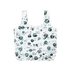 White and green soul Full Print Recycle Bags (S)
