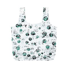 White and green soul Full Print Recycle Bags (M)