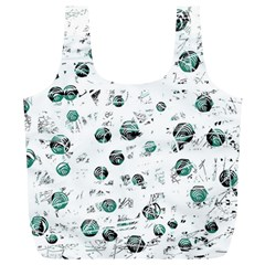 White and green soul Full Print Recycle Bags (L)