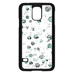 White and green soul Samsung Galaxy S5 Case (Black)