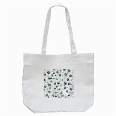 White and green soul Tote Bag (White)