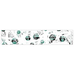 White and green soul Flano Scarf (Small)