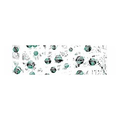 White and green soul Satin Scarf (Oblong)