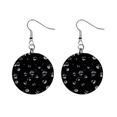 Black and gray soul Mini Button Earrings