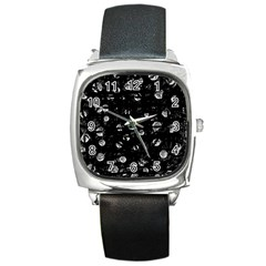 Black and gray soul Square Metal Watch