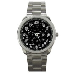 Black and gray soul Sport Metal Watch