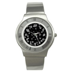 Black and gray soul Stainless Steel Watch