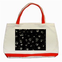 Black and gray soul Classic Tote Bag (Red)