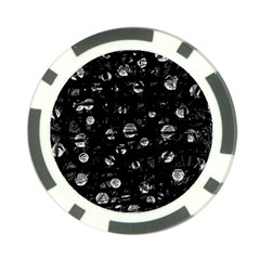 Black and gray soul Poker Chip Card Guards