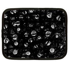 Black and gray soul Netbook Case (Large)