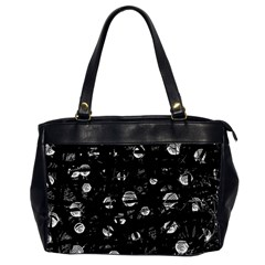Black and gray soul Office Handbags (2 Sides)