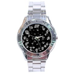 Black and gray soul Stainless Steel Analogue Watch