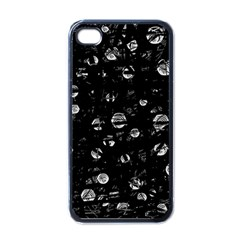 Black and gray soul Apple iPhone 4 Case (Black)