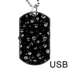 Black and gray soul Dog Tag USB Flash (Two Sides)