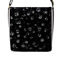 Black and gray soul Flap Messenger Bag (L)