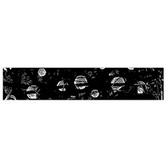 Black and gray soul Flano Scarf (Small)