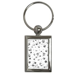White and gray soul Key Chains (Rectangle)